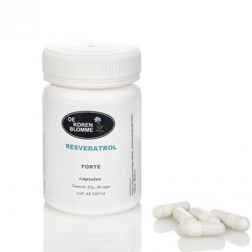 Resveratrol forte De Korenblomme - 60 capsules -