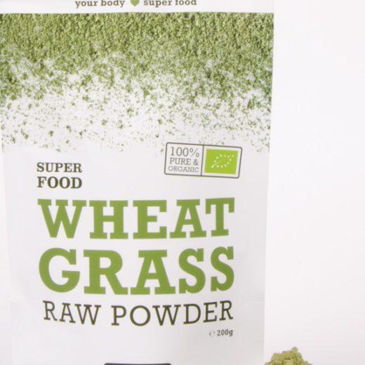Poudre d'herbe de blé