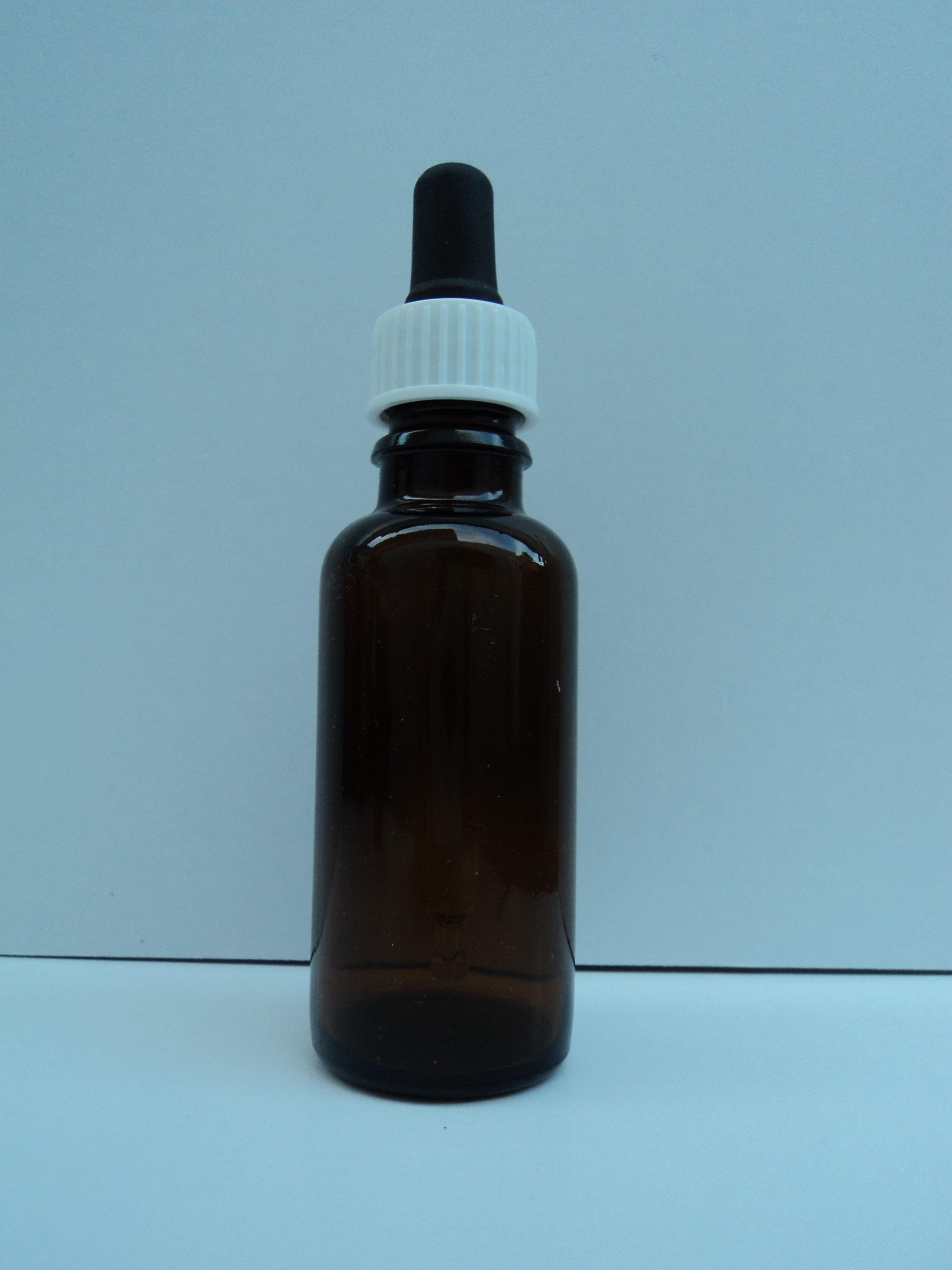 bruin flesje met pipet