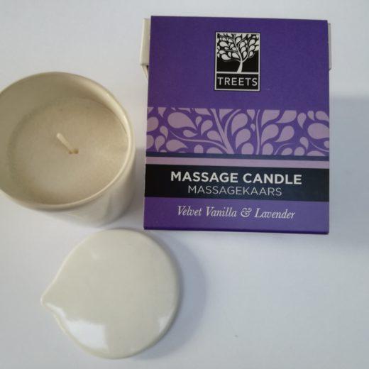 Bougie de massage à base de beurre de karité