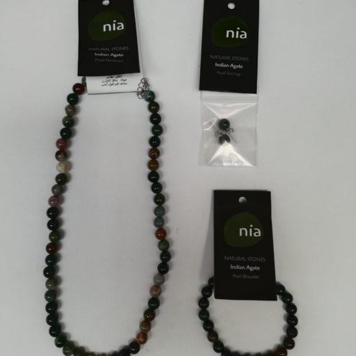 Agate Indienne bijoux perle