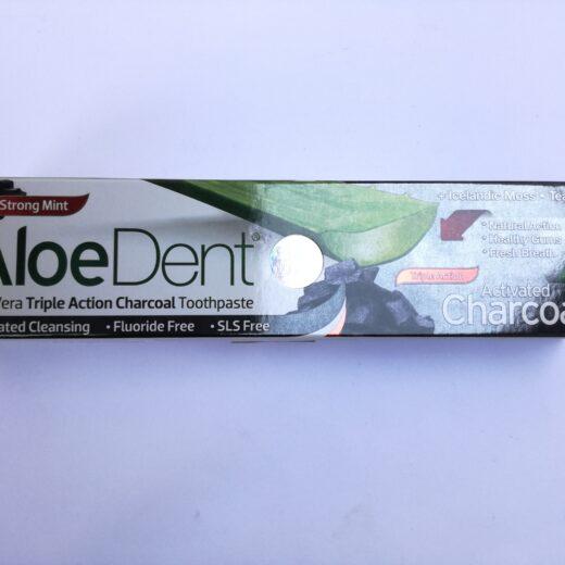 Dentifrice AloeDent charbon actif